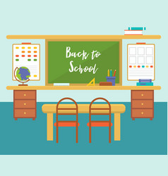 classroom back to school background theme flat vector image
