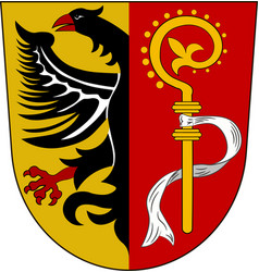 Coat of arms of biberach is a district in vector