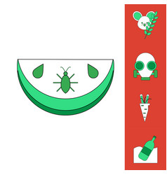 Collection of icons and nature pollution vector