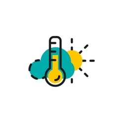 Color line icon for flat design Weather and vector image