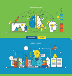 Creative process innovation and creative design vector