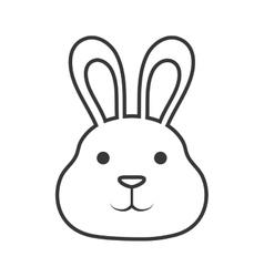 Cute rabbit isolated icon vector