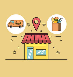 Delivery of orders vector