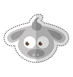donkey character isolated icon vector image