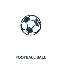 football ball icon mobile apps printing and more vector image