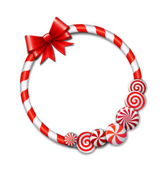 frame made candy cane vector image