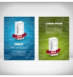 Fridge sale leaflet vector