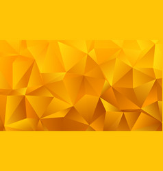 golden yellow triangle bg for your business vector image