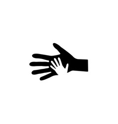 helping hand icon black vector image