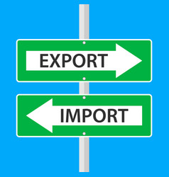 import and export directional vector image