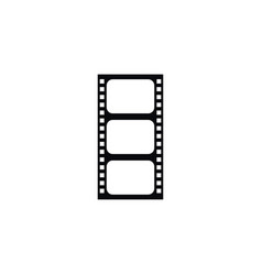 isolated film icon record element can be vector image