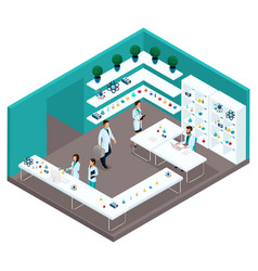 isometry cabinet hospital front view vector image