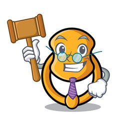 Judge vintage door knocker on mascot cartoon vector