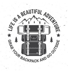 life is a beautiful adventure vector image