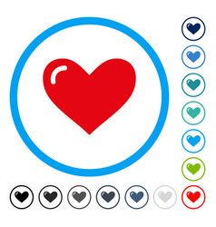 Love heart rounded icon vector