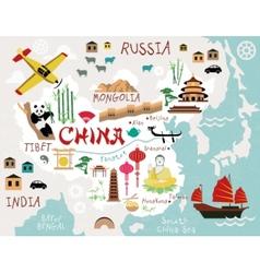Maps china vector