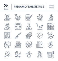 modern line icon of pregnancy management vector image