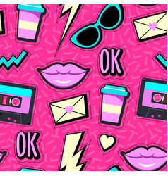 Neon pop background vector