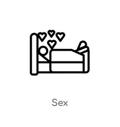 Outline sex icon isolated black simple line vector