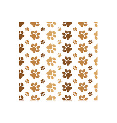 paw print background icon design template vector image