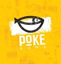 poke bowl hawaiian cuisine restaurant vector image