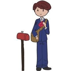 postman vector image