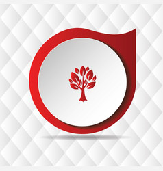 red tree icon geometric background image vector image
