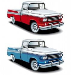 Retro American pickup vector