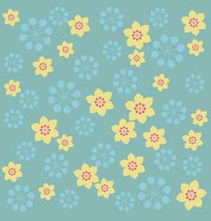 retro color sakura flower background vector image