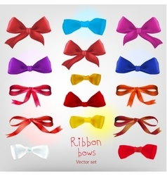 Ribbon red bow vector image