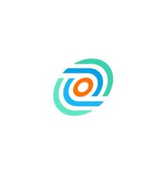 Round circle technology logo vector