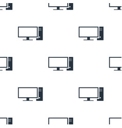 seamless pc pattern education symbol from icon vector image