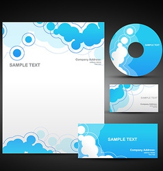 set of business template in blue color vector image