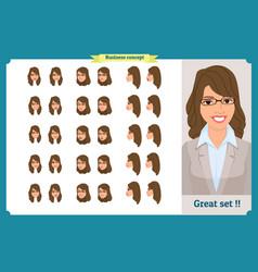 set of womans emotions design expression vector image