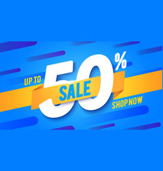 shopping banner with 50 percent off vector image