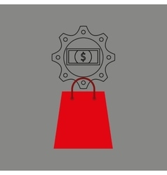 Shopping e-commerce bill money icon graphic vector