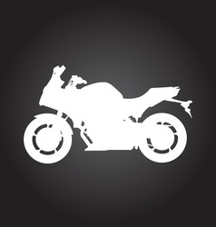 Silhouette of racing motorcycle - sport motorbike vector