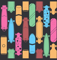 skateboard seamless pattern background vector image