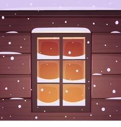Snow Window vector