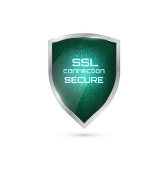 ssl connection secure vector image