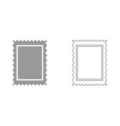Stamp it is black icon vector