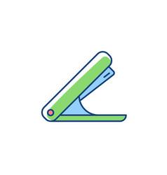 Stapler rgb color icon vector