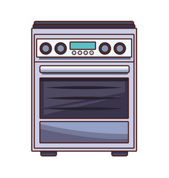 Stove kitchen appliance vector