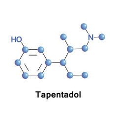 tapentadol opioid analgesic vector image