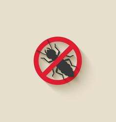 Termite silhouette pest icon stop sign vector