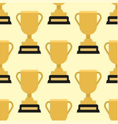 Trophy champion cup seamless pattern winner vector