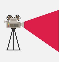 video camera flat design vector image