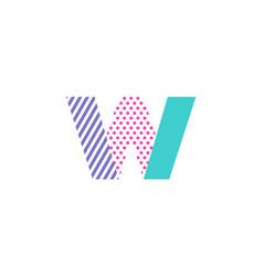 w geometric letter logo icon design vector image