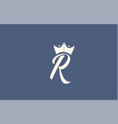 Yellow blue hand written r alphabet letter logo vector
