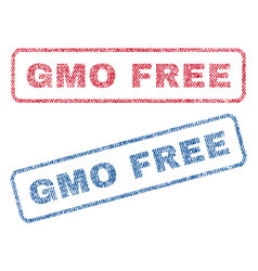 gmo free textile stamps vector image vector image